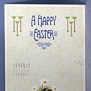 1908 Easter postcard with Art Nouveau motif
