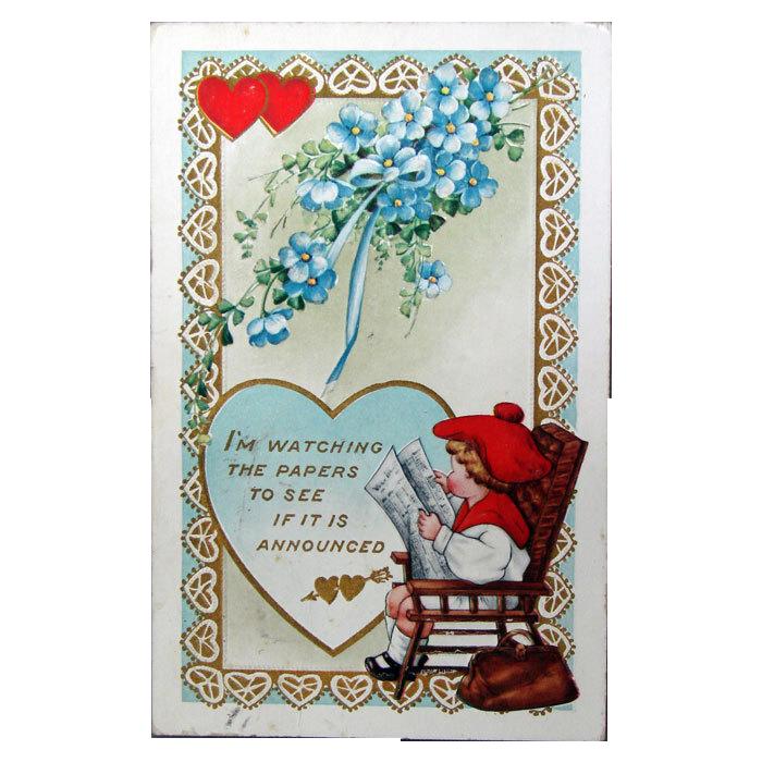 1916 Valentine Post Card