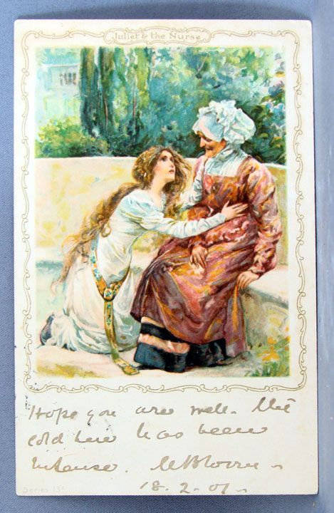 1901 Juliet and the Nurse postcard
