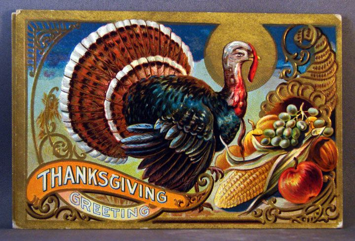 1909 Thanksgiving Greetings  Thanksgiving series No. 3
