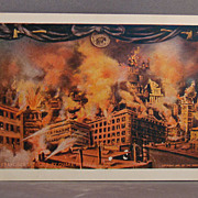 "Unused and Undivided back postcard  ""The San Francisco Disaster by Quake and Fire 1906"""