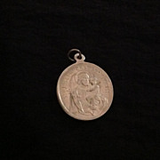 St. Joseph aluminum religious medal marked Germany
