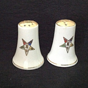 Norcrest china Eastern Star Lodge salt and pepper shakers