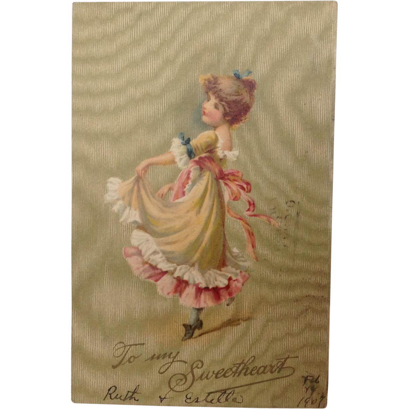 "1907 Valentine Postcard ""To My Sweetheart"" Undivided Back, Germany"