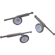 Small Mother of Pearl button studs for tuxedo