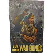 Movie Poster style postcard World War ll. Buy More War Bonds. So We'll Meet again