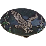 Green Enamel Eagle Belt Buckle Indiana Metal Crafts