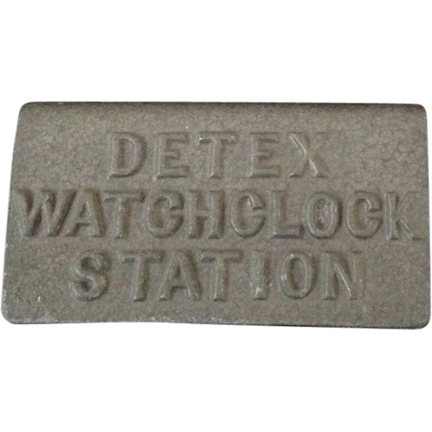 Detex Watch Clock Station with key