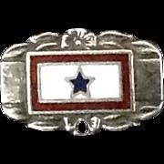 Sterling Silver World War ll Blue Star Mother Pin
