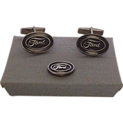 Sterling Ford cuff link and tie tac set