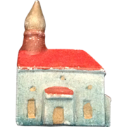 Miniature Japan bisque church for doll house village