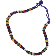 Vintage multi-colored seed bead choker or child's necklace.