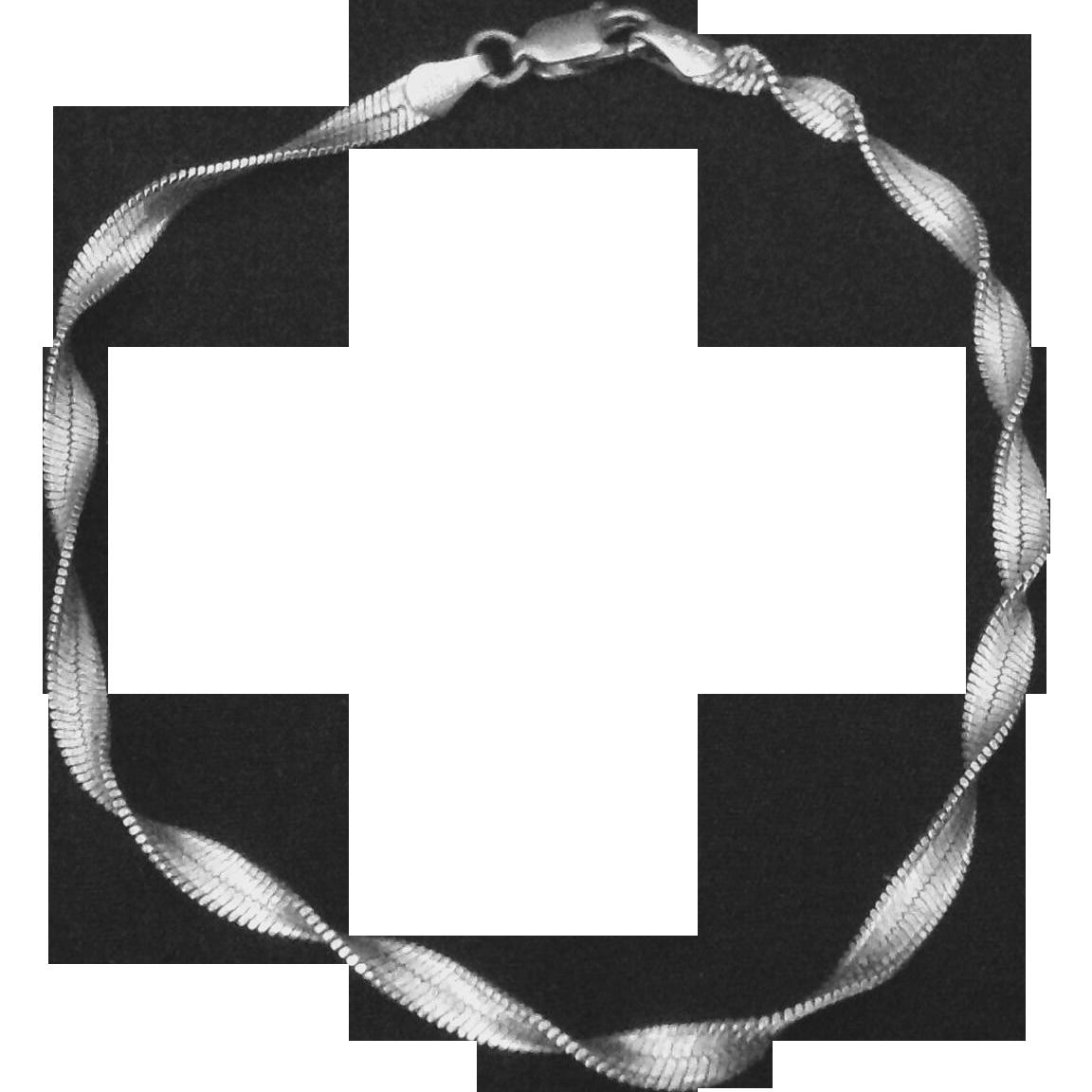 Italy Sterling silver twist bracelet