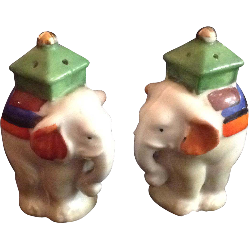 Vintage Elephant Salt And Pepper Shakers Sold On Ruby Lane