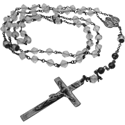 Rosary with crystal glass beads