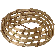 Trifari Basket Weave Pin