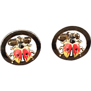Anson Lady Bug Cuff Links