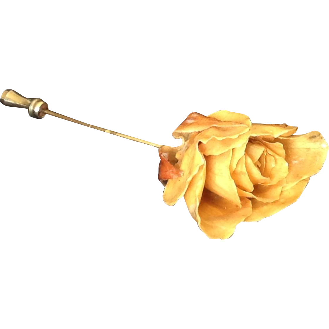 Real yellow rose  stick pin
