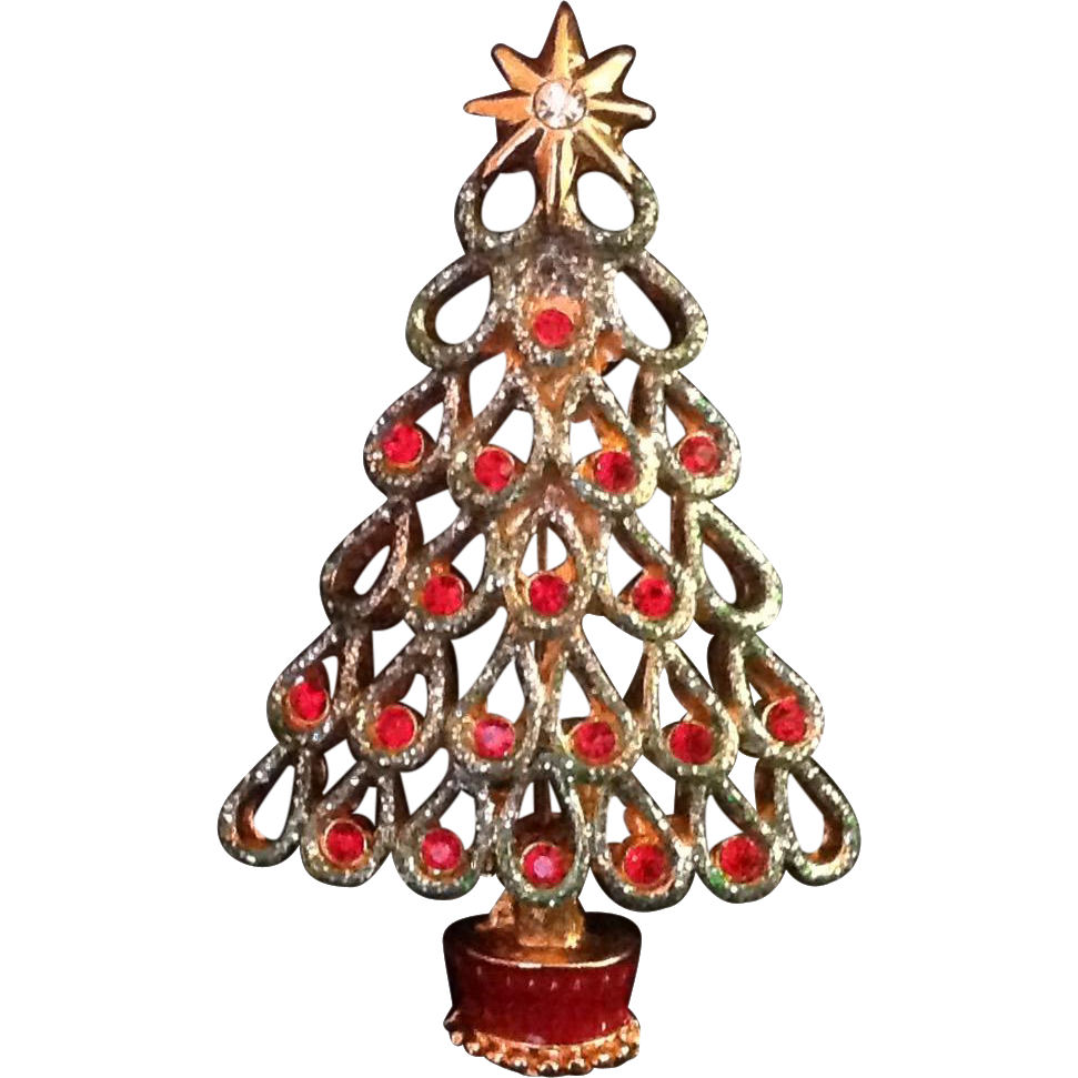 Christopher Radko Christmas Tree Pin