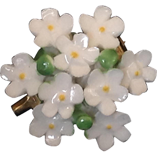 Cara China floral pin Staffordshire Made in England