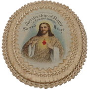1915 Apostleship of Prayer Sacpular with hand sewn border