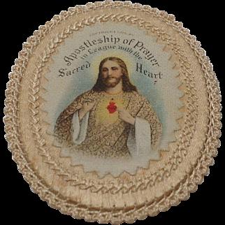 1915 Apostleship of Prayer Sacpular with hand sewn border