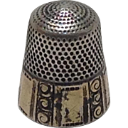 Sterling Silver Thimble Size 9 with Anchor mark