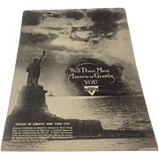 Unused YMCA Welcome Home postcard for troops returning from World War I