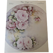 China Design by Wanda Pattern #1 Pink Roses c. 1965 by Wanda Clapham