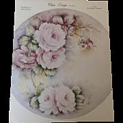 China Design by Wanda Pattern #1 Pink Roses c. 1965 by Wanda Clapham
