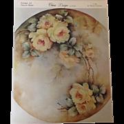 China Design by Wanda. Pattern #5 Yellow Roses  c.1965 by Wanda Clapham