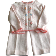 Vintage 1970's 2-piece acrylic infant knitted outfit
