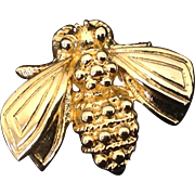 Gold tone fly or bee pin marked DP20