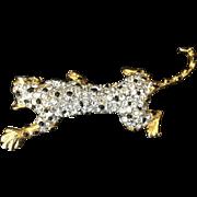 Stunning rhinestone leopard pin