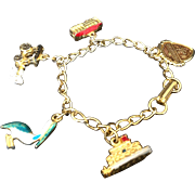 New Orleans Charm Bracelet with 5 enamel enhanced charms