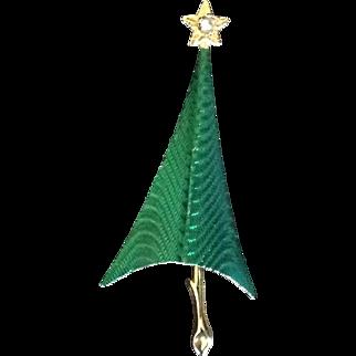 Cerrito Modernist Christmas Tree Pin 1980's Book piece