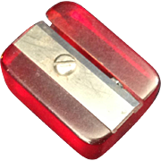 Cherry Red Bakelite pencil sharpener