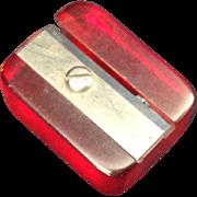 Cherry Red Bakelite pencil sharpener