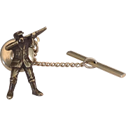 Hunting Theme Tie Tac with Hunter and Long Gun