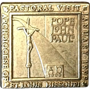 Pope John Paul II Pastoral Visit St. Louis Missouri 1999 Collector Pin