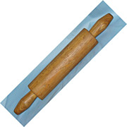 Primitive one piece hand turned rolling pin