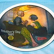 "Normal Rockwell ""After the Party""  1981 Mother's Day Collector Plate"