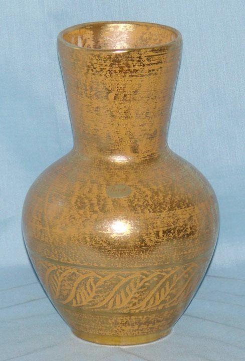 Stangl Pottery Granada Gold Vase #5023