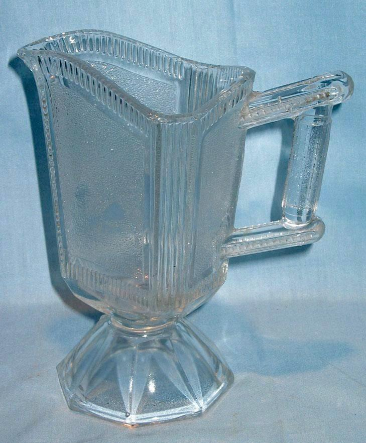 Early American Pattern Glass Pleat and Panel Creamer