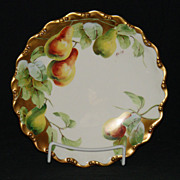 Hand Painted L. R. L. Limoges Plate Artist Signed