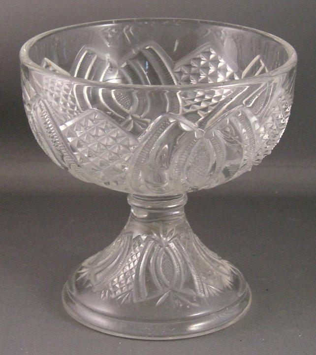 Early American Pattern Glass Hickman Jelly Compote