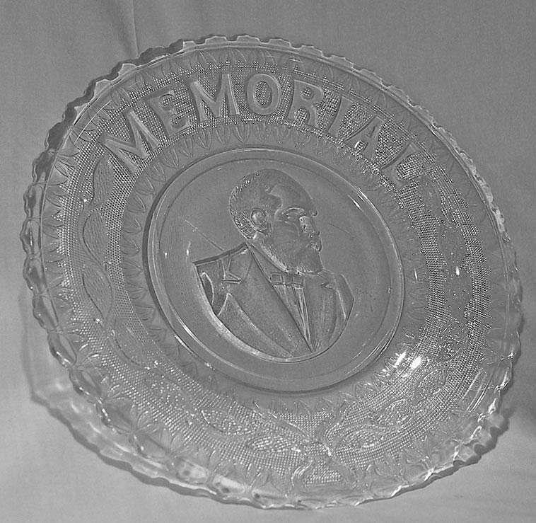 Garfield Memorial Bread Plate