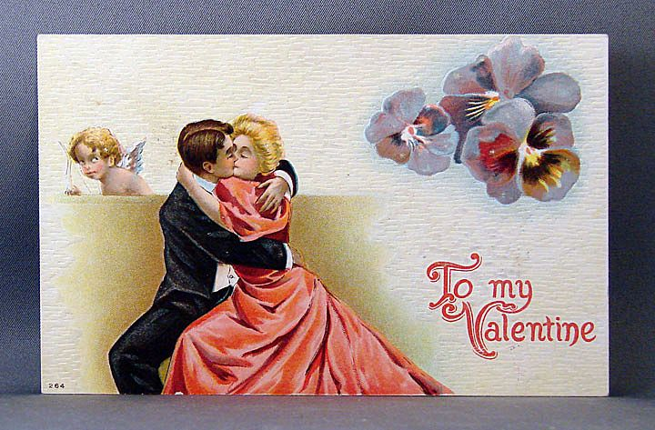 Valentine Couple in a romantic embrace