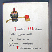 1913 Thanksgiving  Tender Wishes