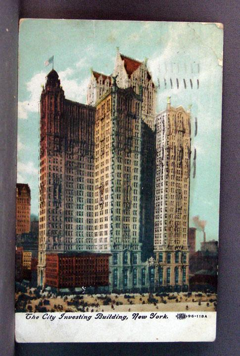 1910 Post Card The City Investing Building, New York